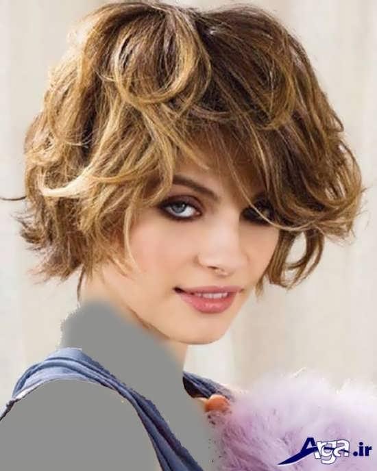 مدل مو کوتاه موج دار دخترانه