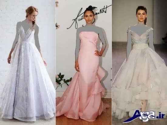 تنوع رنگ در مدل لباس های عقد