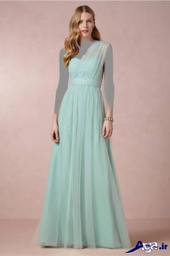 مدل لباس آبی ملایم عقد