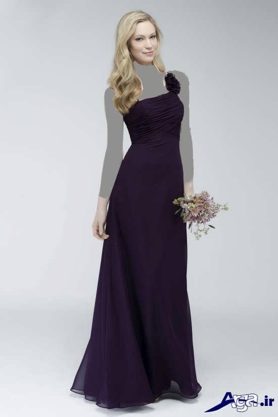 مدل لباس بنفش عقد