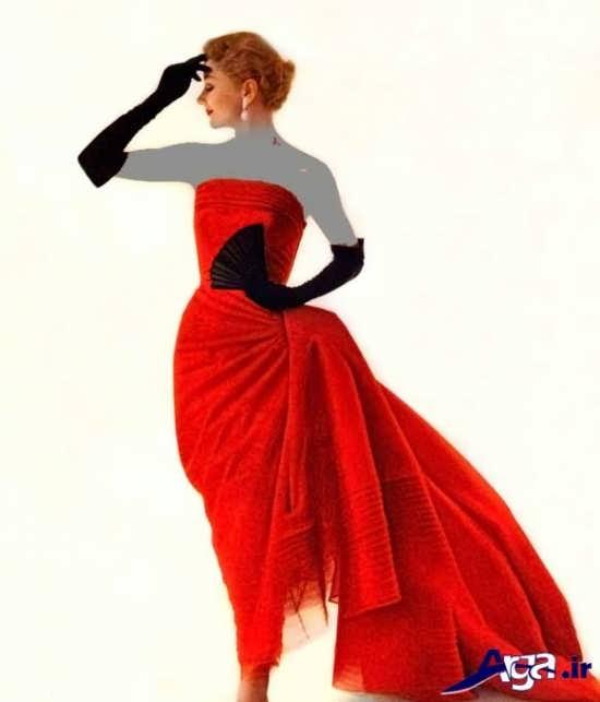 مدل لباس قرمز عقد