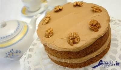 طرز تهیه کیک گردویی با بهترین روش در منزل