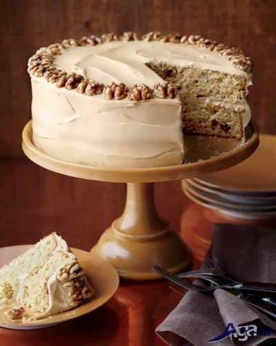 تزیین کیک گردویی