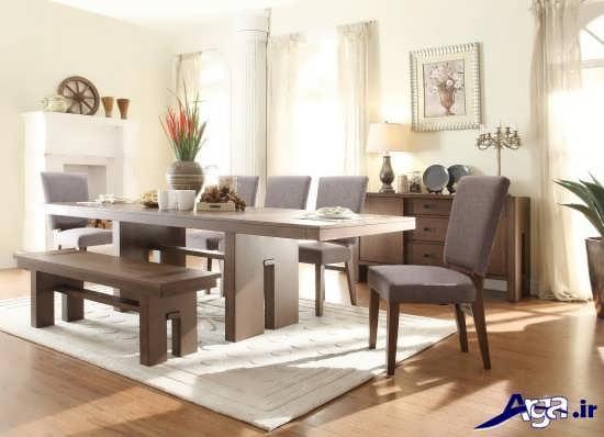 میز غذاخوری چوبی جدید