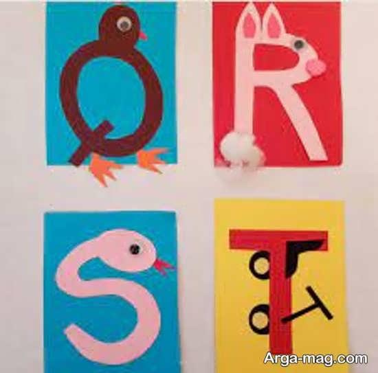 کاردستی حروف الفبا با ایده های شیک