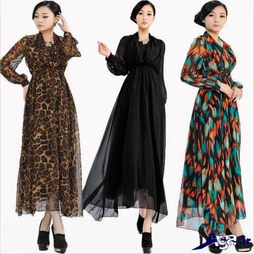 مدل لباس مجلسی بلند با کت حریر