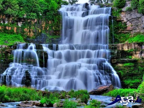 تصاویر زیبا از آبشار و طبیعت