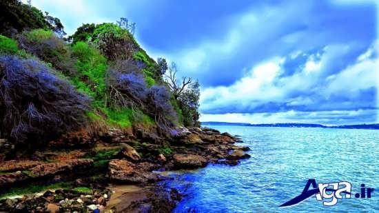 تصاویر زیبا از دریا و تخته سنگ