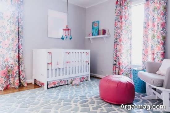 جدیدترین مدل پرده اتاق نوزادان