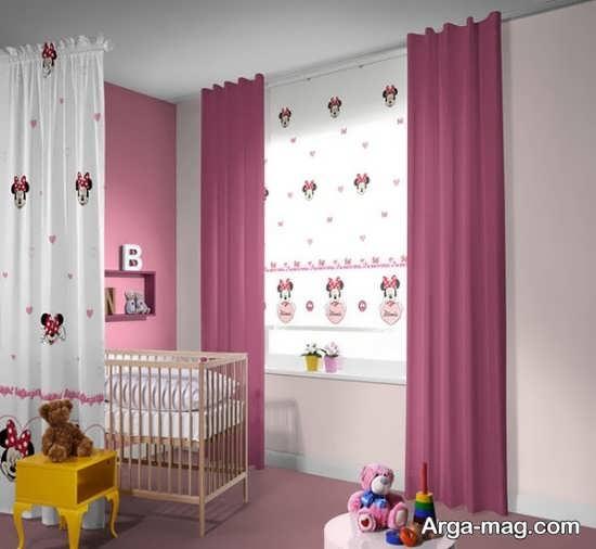 پرده اتاق نوزاد شاد