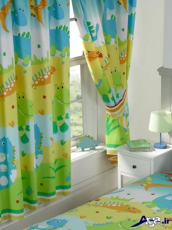 پرده اتاق نوزاد با طرح های زیبا