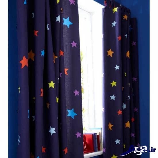 پرده با طرح ستاره برای اتاق نوزاد