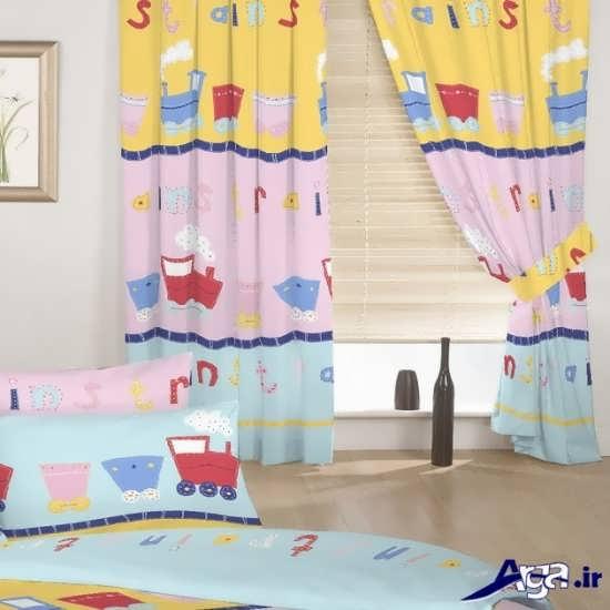مدل پرده و رو تختی ست برای اتاق نوزاد