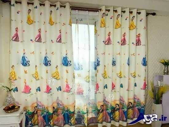 پرده اتاق نوزاد با ظرح باربی