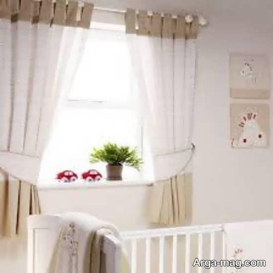 پرده ساده اتاق نوزادان