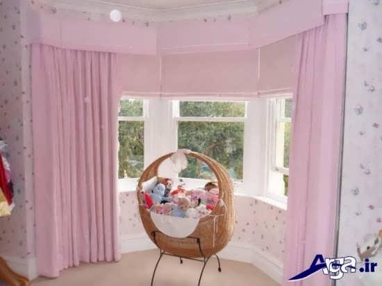 پرده صورتی برای اتاق نوزاد