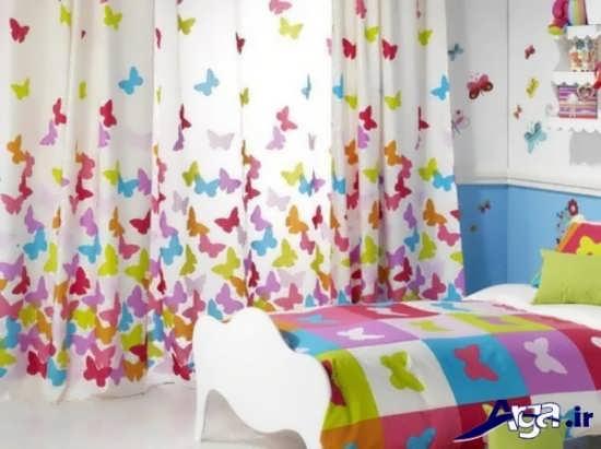 پرده اتاق نوزاد با طرح پروانه