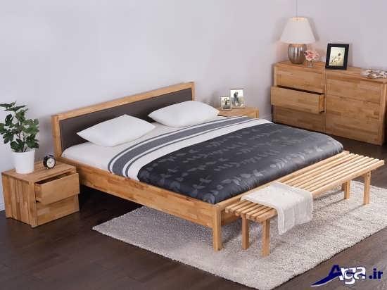 تخت خواب چوبی دونفره