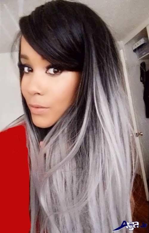 رنگ مو مشکی خاکستری