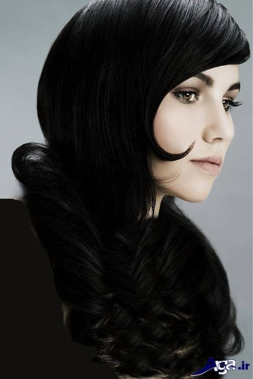 تصاویر رنگ موهای ترکیبی مشکی