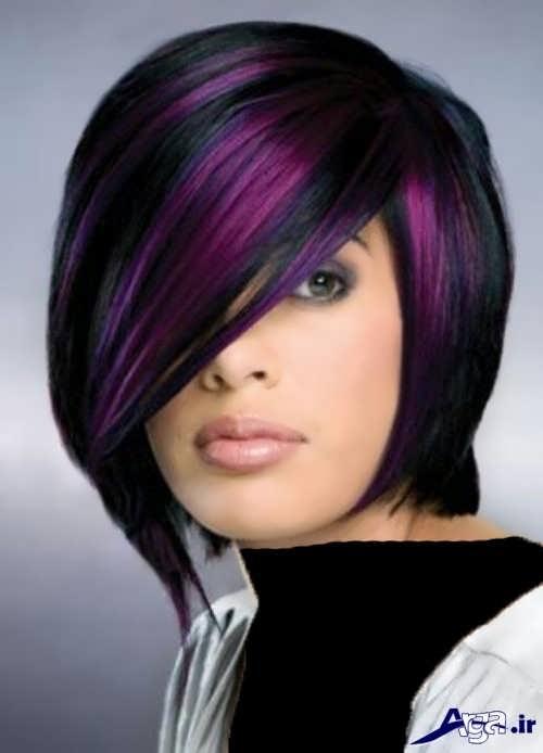 رنگ مو مشکی بنفش زنانه