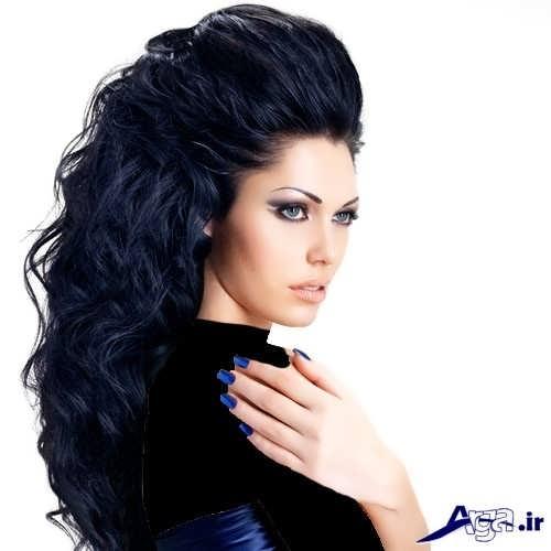 مدل موی فر با رنگ مو مشکی
