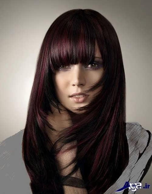 رنگ موی زیبا دخترانه مشکی گیلاسی