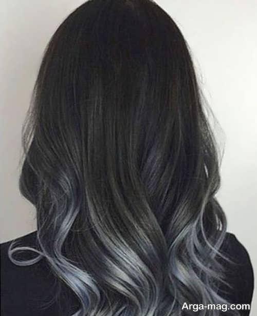 هایلایت زیبای رنگ مو مشکی