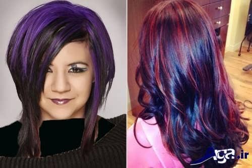 رنگ مو مشکی بنفش