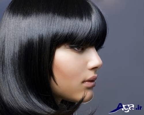 رنگ موی مشکی زیبا