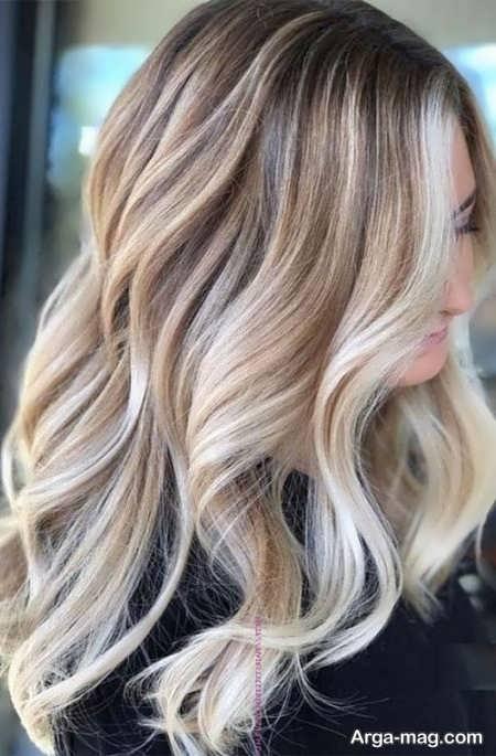 رنگ مو هایلایت استخوانی