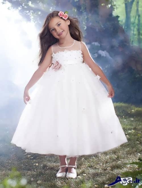 مدل زیبا و با نمک لباس عروس دخترانه