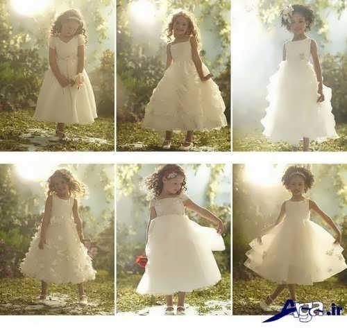 مدل های متنوع و زیبا لباس عروس برای کودکان