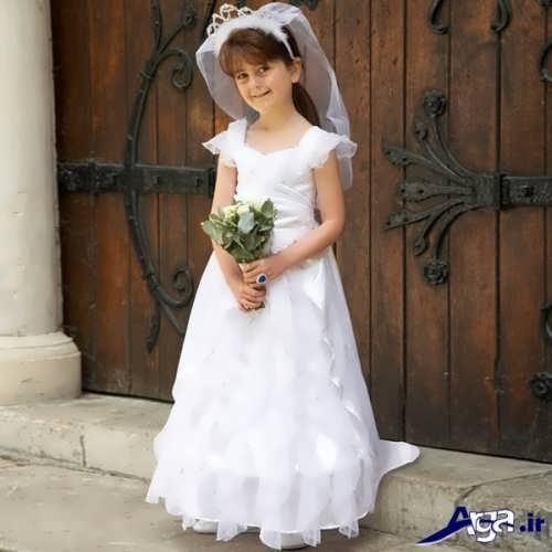 لباس عروس ساده بچه گانه