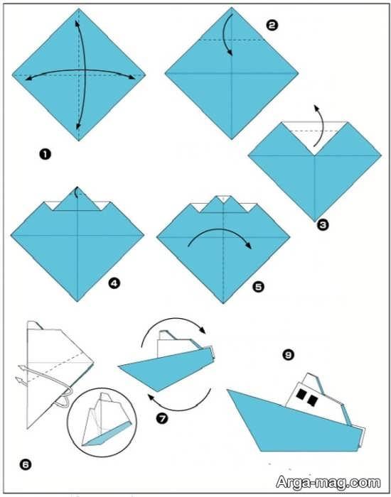 ساختن مدلی از قایق کاغذی