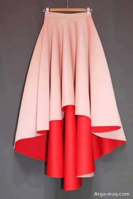 مدل دامن کلوش دنباله دار