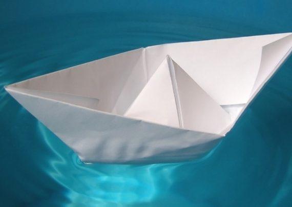 آموزش ساخت قایق کاغذی