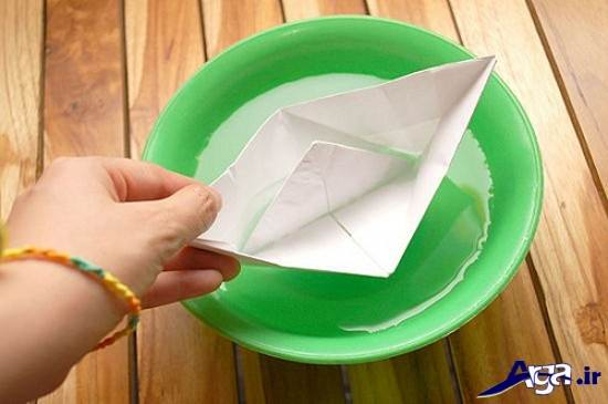 قایق کاغذی زیبا برای کودکان