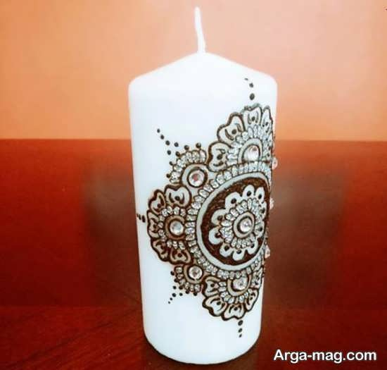 تزیینات جدید شمع با مروارید و نگین