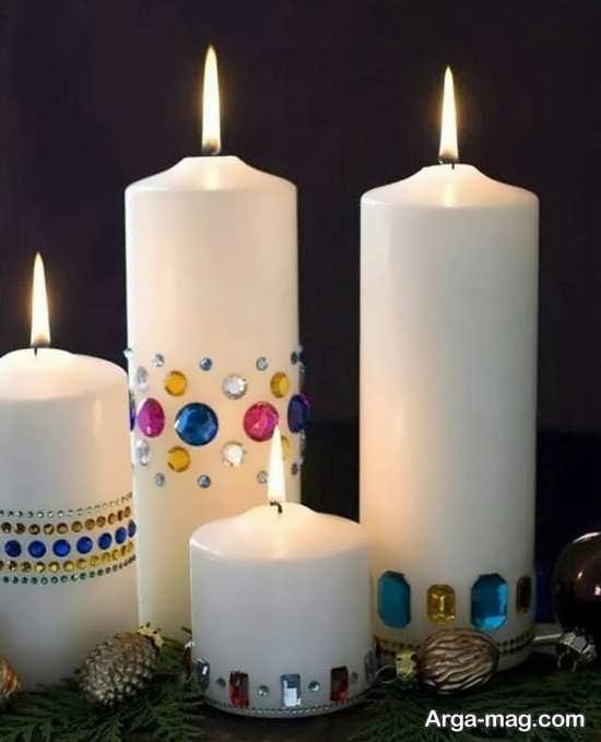 تزیینات ایده آل شمع با مروارید و نگین
