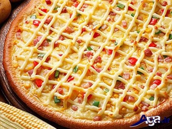 تزیین پیتزا با سس
