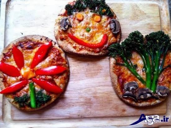 تزیین کردن پیتزا