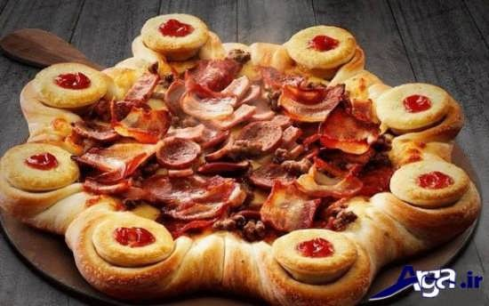 تزیین ساده و خلاقانه پیتزا