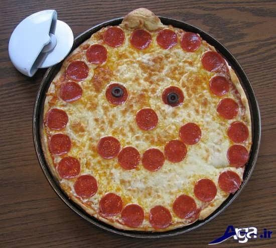 پیتزا تزیین شده