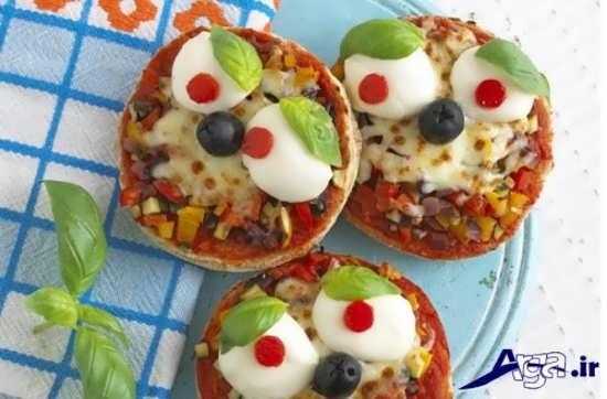 تزیین پیتزا برای تولد