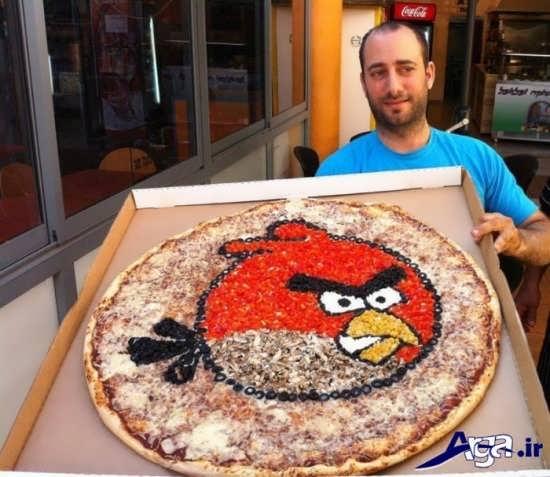 تزیین کردن پیتزا برای تولد کودکان