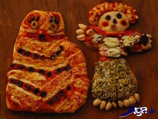 تزیین عروسکی و زیبا پیتزا