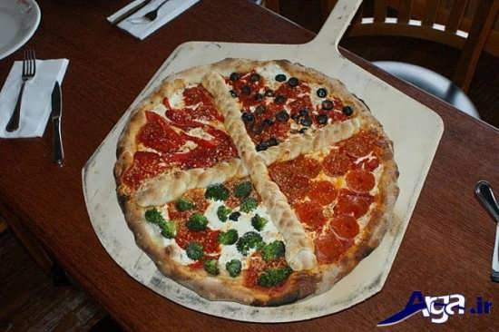 تزیین ساده پیتزا