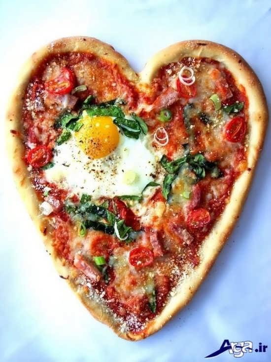 تزیین پیتزا به شکل قلب