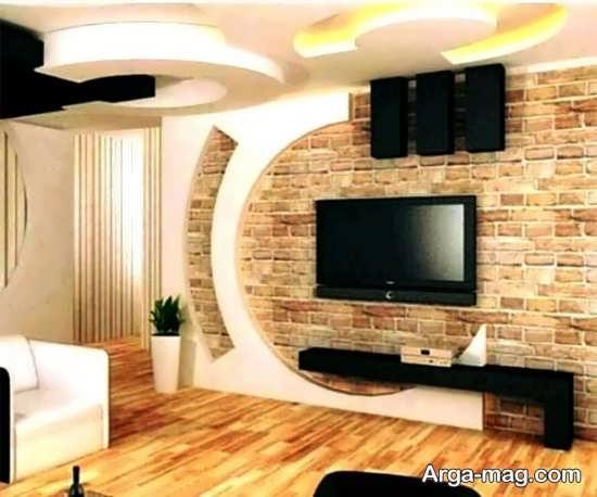 تصاویری از تزیینات دیوار پشت تلویزیون